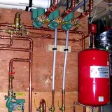 3-zone hot water supply, return piping with bypass loop for high efficiency Prestige Boiler