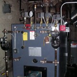 Oil-fired commercial steam boiler