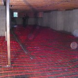 Pex tubing for radiant heat in basement