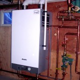 Sleek 98% efficient wall-hung boiler with ProPress copper