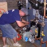 RANCO technician wiring steam boiler